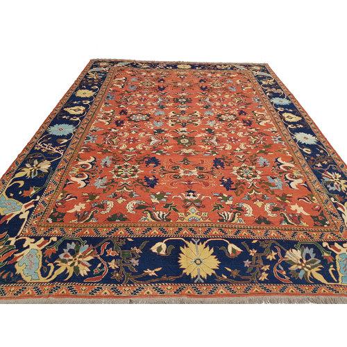 Stylish Multi Colour Handmade 13'25 X 9'71 Sumak Kilim Area Rug Weave 404X296 cm