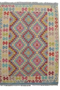 Afgan Geometric Hand woven wool kilim Carpet area Rug 6'10X4'10 teppich
