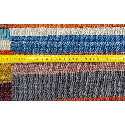 Kelim Modern kwaliteit Vloerkleed Traditioneel Tapijt Hand Geweven 296X252 cm