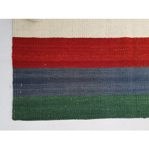 Modern Kilim Rug 9'54x8'33 Multi colour Hand Weaven Oriental Area Rug Carpet