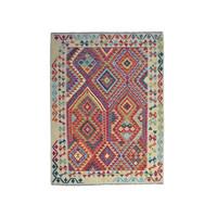 Oriental Hand woven wool kelim afghan  Carpet Kilim Rug 6'33X4'79  teppich
