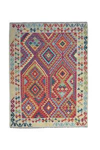 Kelim Kleed 193X146 cm Vloerkleed Tapijt Kelim Hand Geweven