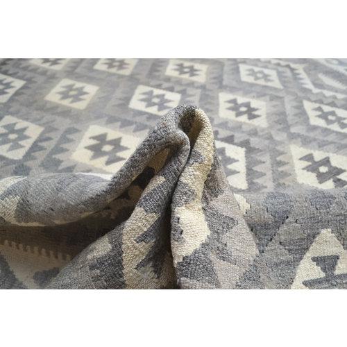 natural Kelim Kleed 204X163 cm Vloerkleed Tapijt Kelim Hand Geweven