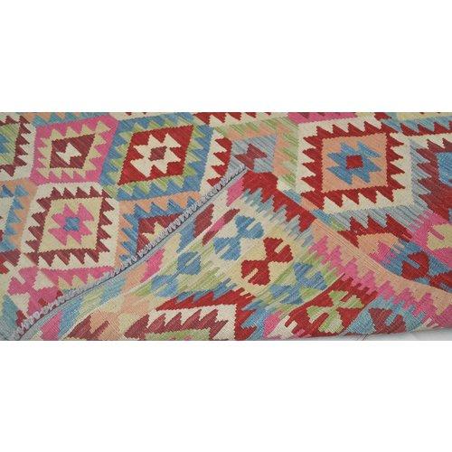 195X158 Afghan  Hand woven wool kilim Carpet Oriental Kelim Rug