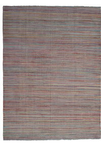 modern stripe  Hand woven wool kilim 7'93X5'90 Carpet Rug 242X180 cm