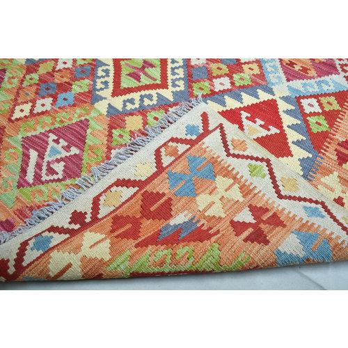 6'46X4'92 Oriental Hand woven wool kilim Carpet kelim Rug tapis multi color