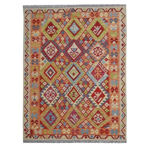197X150 cm Kelim Kleed  Vloerkleed Tapijt Kelim Hand Geweven