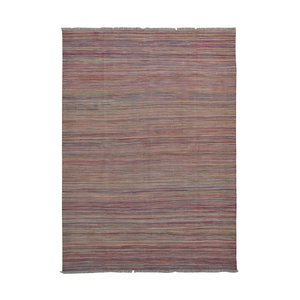 modern Stripe  muti color Hand woven wool kilim 7'84X5'57 Carpet Rug