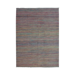 Modern Rug striped Hand woven wool kilim 7'74X5'51 Carpet Tapis