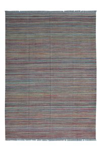 modern Rug stripe Hand woven wool kilim 8'20X5'74 Carpet Rug Teppich