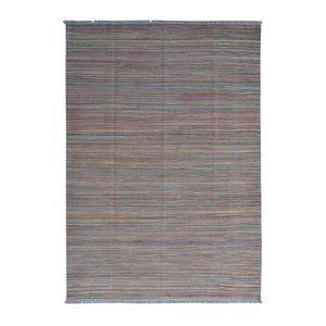 Hand woven wool moedern strpe kilim 8'23X5'64 Carpet Rug  teppich