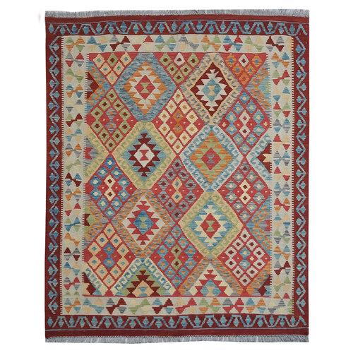 Kelim Kleed 205X153 cm Vloerkleed Tapijt Kelim Hand Geweven