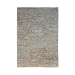 Handgeknoopt Modern streep tapijt 287x198 cm  kleed vloerkleed  multi