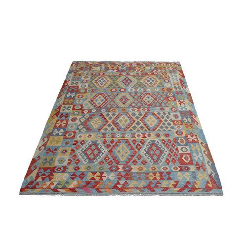 Oriental  Geometric Hand woven wool kilim 7'90X5'87 Carpet Rug 241X179 cm