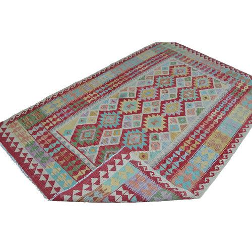 Kelim Kleed 247X160 cm Vloerkleed Kwaliteit Tapijt Kelim Hand Geweven