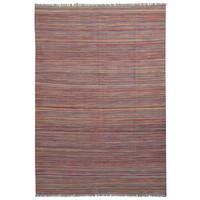 modern stripe line Hand woven wool kilim 8'23X5'74 Carpet Rug 251X175 cm