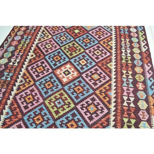 Traditional Geometric Hand woven wool kilim 7'61X5'83 Carpet Rug 232X178 cm