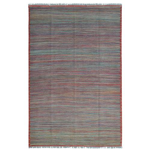 modern stripe designHand woven wool kilim 8'39X5'57 Carpet Rug 256X170cm