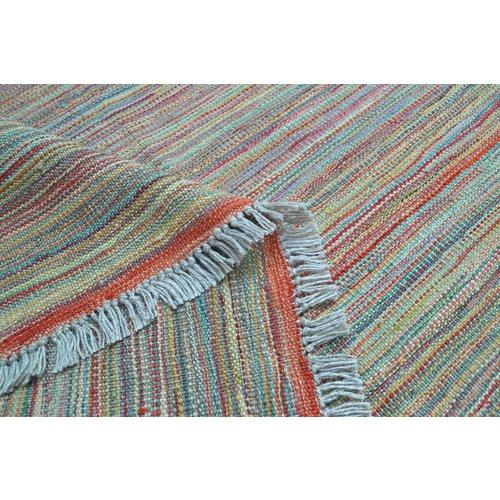 modern stripe design Kelim Teppich 256X170 cm Qualität Handgewebt afghan