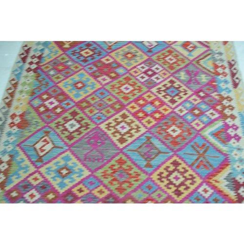 Kelim Kleed 247X177 cm Vloerkleed Kwaliteit Tapijt Kelim Hand Geweven