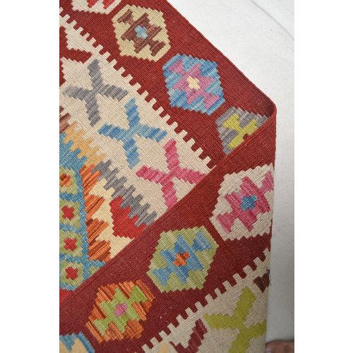 Vloerkleed Tapijt Kelim Kleed Hand Geweven Kelim 190x149 cm