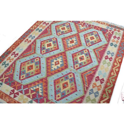 Kelim Kleed 187x150 cm Vloerkleed Tapijt Kelim Hand Geweven