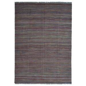 stripe design modern Hand woven wool kilim 8'10X5'74 Carpet Rug 247X175cm