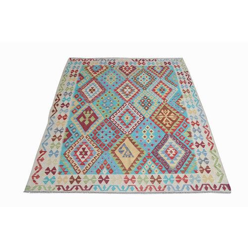 Kelim Teppich 233x187 cm afghan kilim teppich
