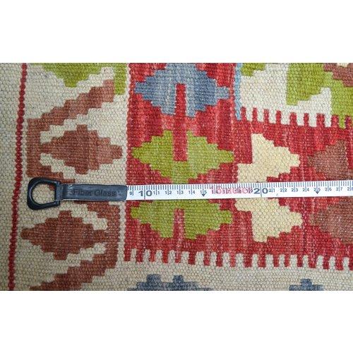 Vloerkleed Tapijt Kelim 198x150 cm Kleed Hand Geweven Kelim
