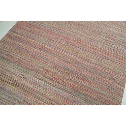 Vloerkleed Tapijt Kelim 201x152 cm Kleed Hand Geweven Kelim