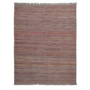 Sheep Wool Hand woven Afghan modern kilim stripe Carpet Kilim Rug 6'5x4'9