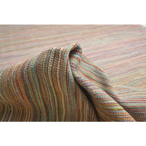 modern Vloerkleed Tapijt Kelim 188x153 cm Kleed Hand Geweven Kelim