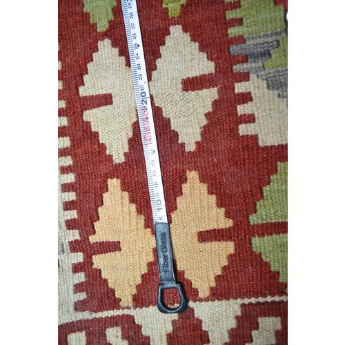 Sheep Quality Wool Hand woven 196x158cm Afghan kilim Carpet Kilim Rug 6'4x5'1