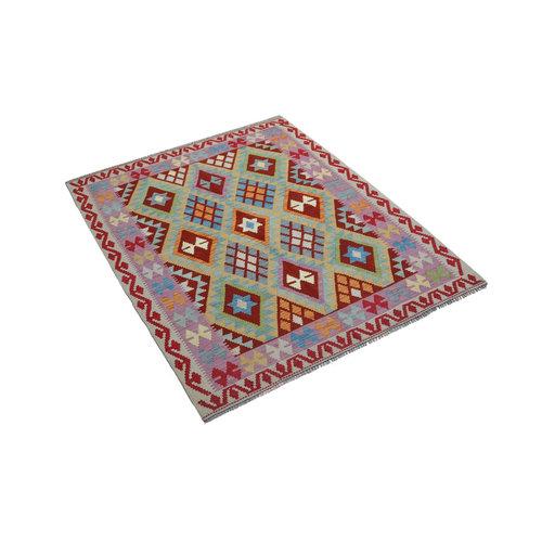 Sheep Quality Wool Hand woven  Afghan kilim Carpet Kelim Rug 6'3x5'0 teppich