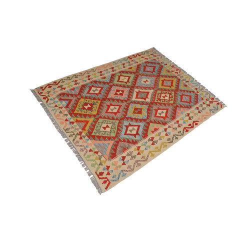 Vloerkleed Tapijt Kelim Kleed Hand Geweven Kelim 197x151 cm