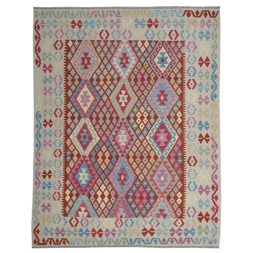 Sheep Quality Wool Hand woven 204x160 cm Afghan kilim Carpet Kilim Rug 6'6x5'2ft
