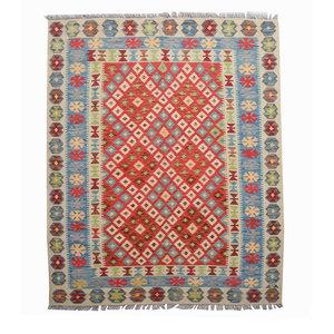 Sheep Quality Wool Hand woven 207x158 cm Afghan kilim Carpet Kelim Rug 6'7X5'1