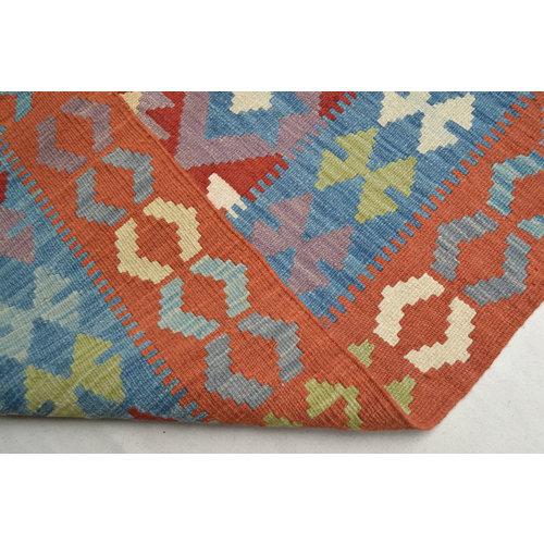 Vloerkleed Tapijt Kelim  206x151  cm Kleed Hand Geweven Kelim