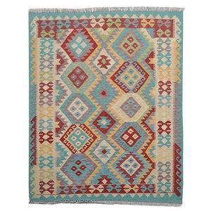 Sheep Quality Wool Hand woven  192x151 cm Afghan kilim Carpet Rug 6'2x4'9 ft