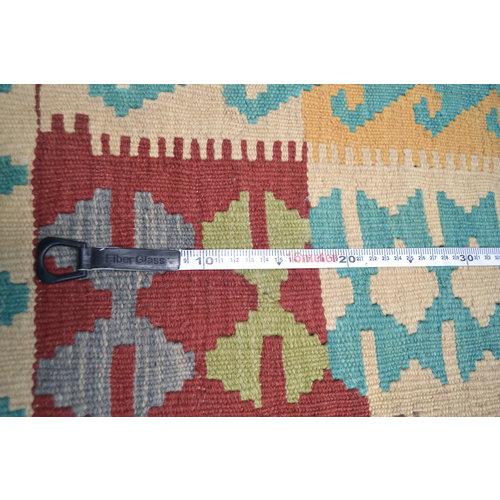 Vloerkleed Tapijt Kelim  192x151  cm Kleed Hand Geweven Kelim