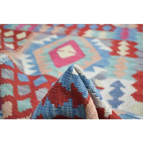 Sheep Quality Wool Hand woven  200x148 cm Afghan kilim Carpet  Rug 6'5x4'8 ft
