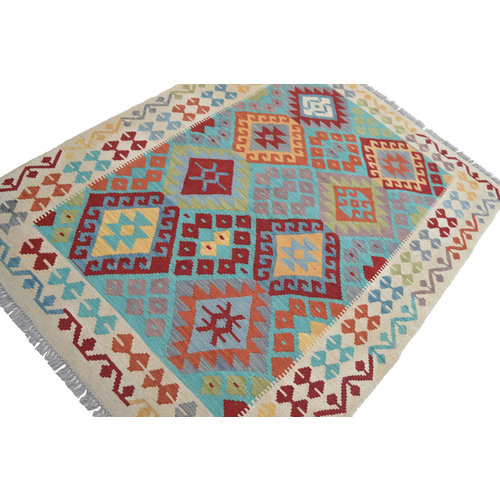 Sheep Quality Wool Hand woven  194x150 cm Afghan kilim Carpet Rug 6'3x4'9 ft
