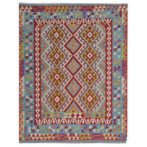 Ghazny  Quality Wool Hand woven 199x153 cm Afghan kilim Carpet Rug 6'5X5'0 ft