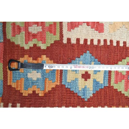 Vloerkleed Tapijt Kelim  201x158  cm Kleed Hand Geweven Kelim