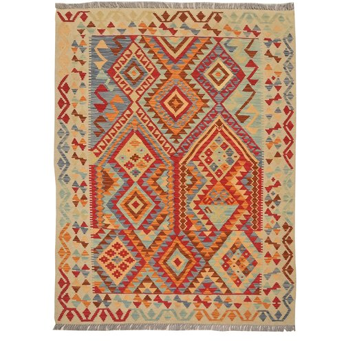 Sheep Quality Wool Hand woven 193x146 cm Afghan Carpet Kilim Rug 6'3X4'7 ft