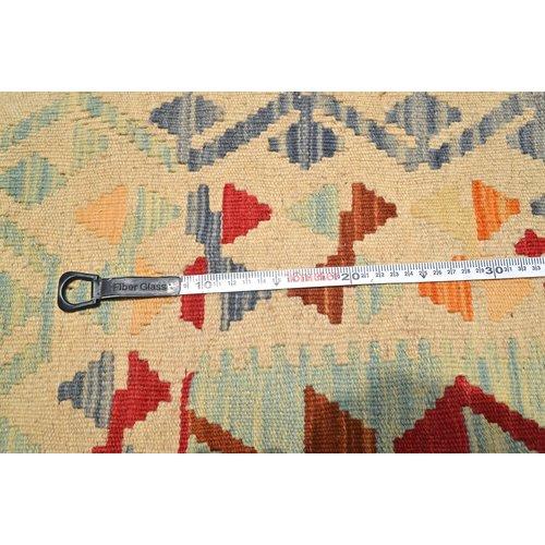 Vloerkleed Tapijt Kelim  193x146  cm Kleed Hand Geweven Kelim