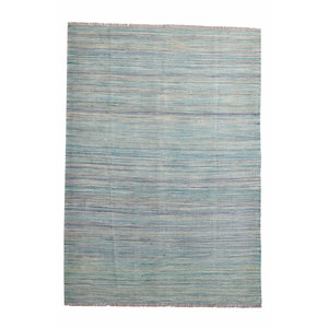 modern stripe Sheep Wool Hand woven 248x177cm Afghan kilim Carpet Rug 8'1x5'8