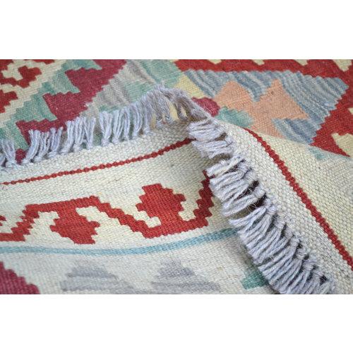 Vloerkleed Tapijt Kelim 200x152 cm Kleed Hand Geweven Kelim