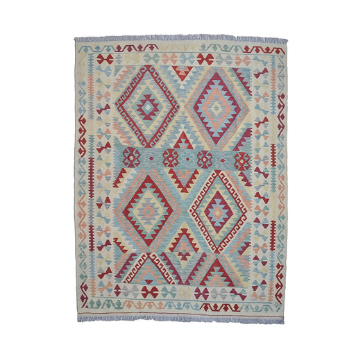 Sheep Quality Wool Hand woven 200x152 cm Afghan kilim Carpet Rug 6'5x4'9ft