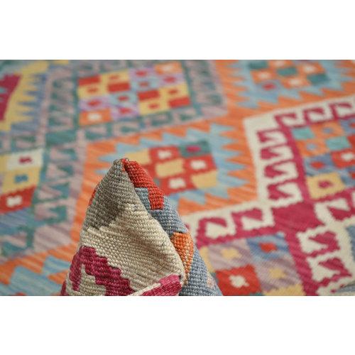 Vloerkleed Tapijt Kelim  214x154  cm Kleed Hand Geweven Kelim